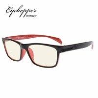 CGTR090 Eyekepper UV400 Protection Anti Fatigue Computer Eyeglasses Anti Blue Light Blocking Memory Flex Frame Reading