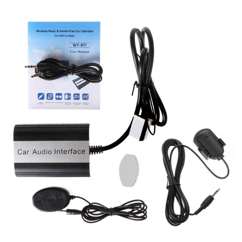 OOTDTY 1 kit mains libres voiture Bluetooth Kits MP3 Interface adaptateur AUX pour VW Audi Skoda 12PIN