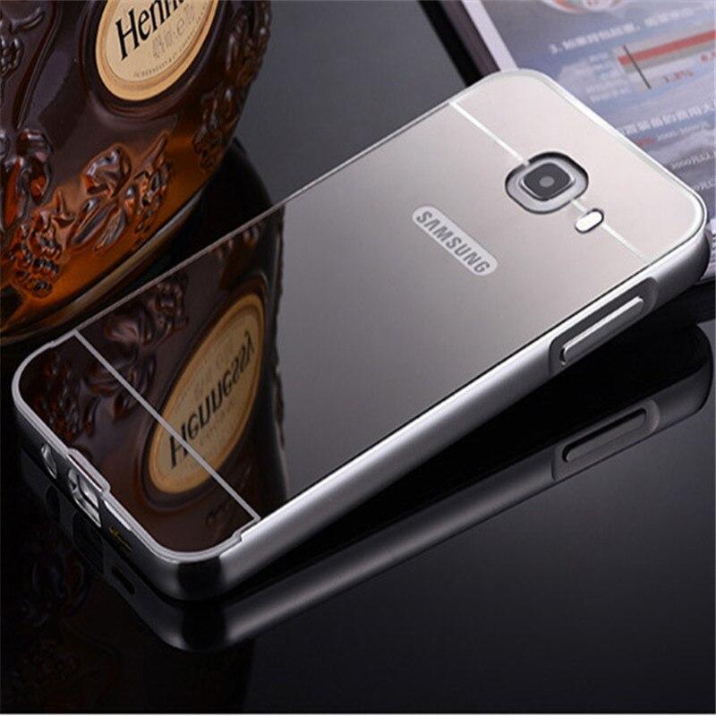 af0636c9b9b Para Samsung J7 Prime case plating espejo aluminio metal Marcos + hard PC  contraportada para Samsung j7prime on7 2016 en Casos amueblada de Teléfonos  y ...
