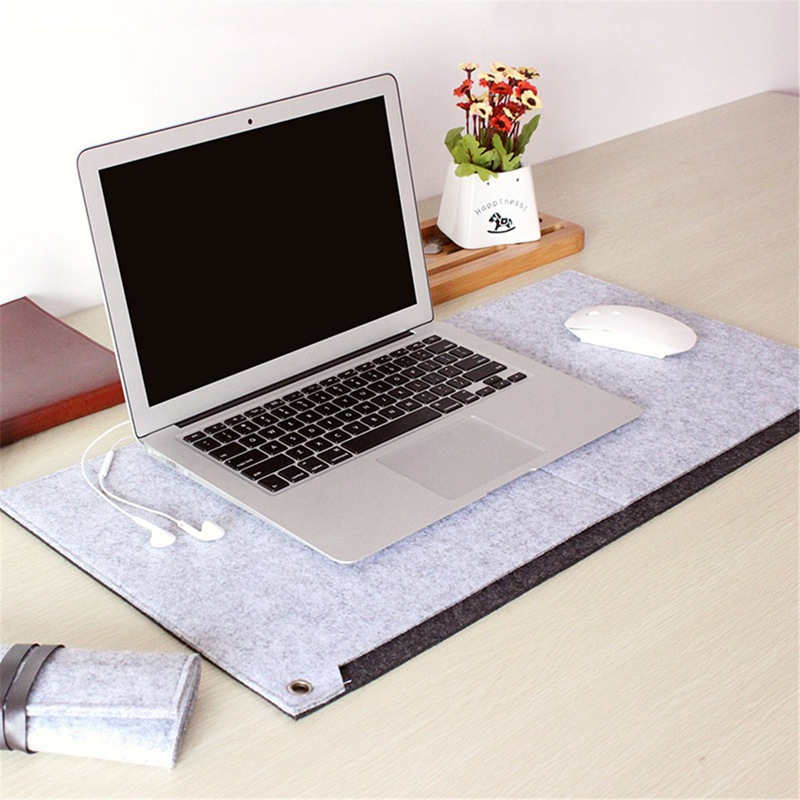 Locking Edge Mouse Pad Large Grey Laptop Keyboard Mat Computer Desk Table Gaming Mice Pad Protect Wrist Warm Office Mousepad ...