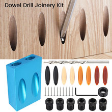 Woodworking Pocket Hole Jig Kit 6/8/10mm Angle Drill Guide Set Hole Puncher Locator Jig Drill Bit Set For DIY Carpentry Tools все цены