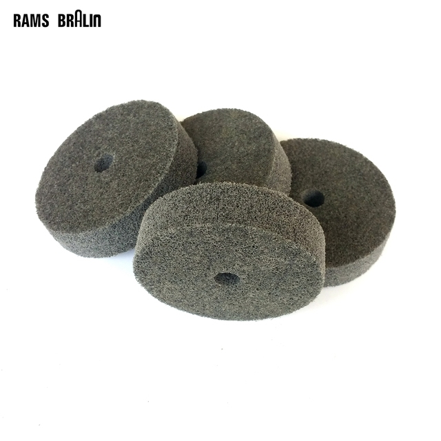 10 pieces 75*20*10mm Non-woven Unitized Polishing Wheel 7P P180 for Metal Surface Finishing