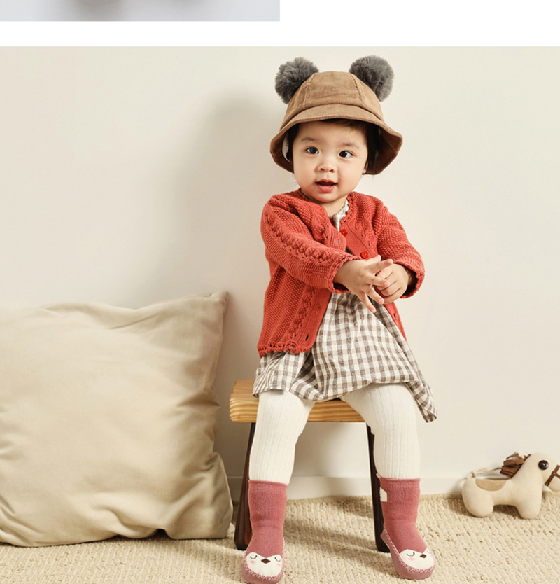 New Toddler Infant Baby Boys Girls Cartoon Anti-Slip Shoes Knitted Warm Socks VT