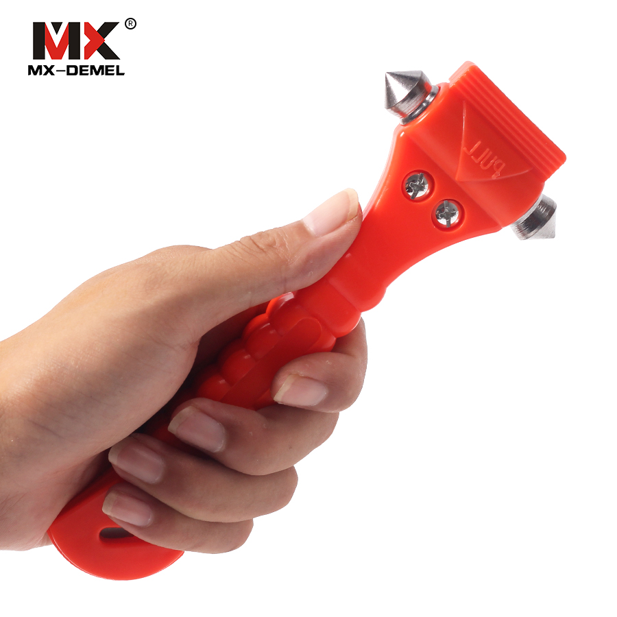 Outdoor Mini Car Safety Hammer Life Saving Escape Emergency Hammer Seat Belt Cutter Window Glass Breaker Car Rescue Red Hammer