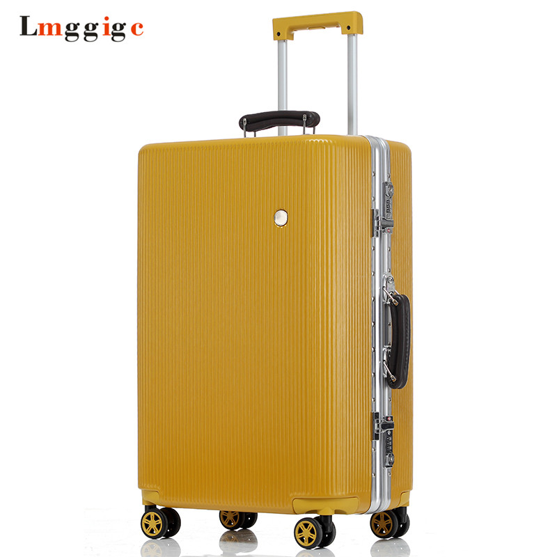 Aluminum Frame Suitcase,Multiwheel Luggage Carry-On,Nniversal Wheel Hardside Travel Box Drag Bag,Spinner Rolling Trolley Case