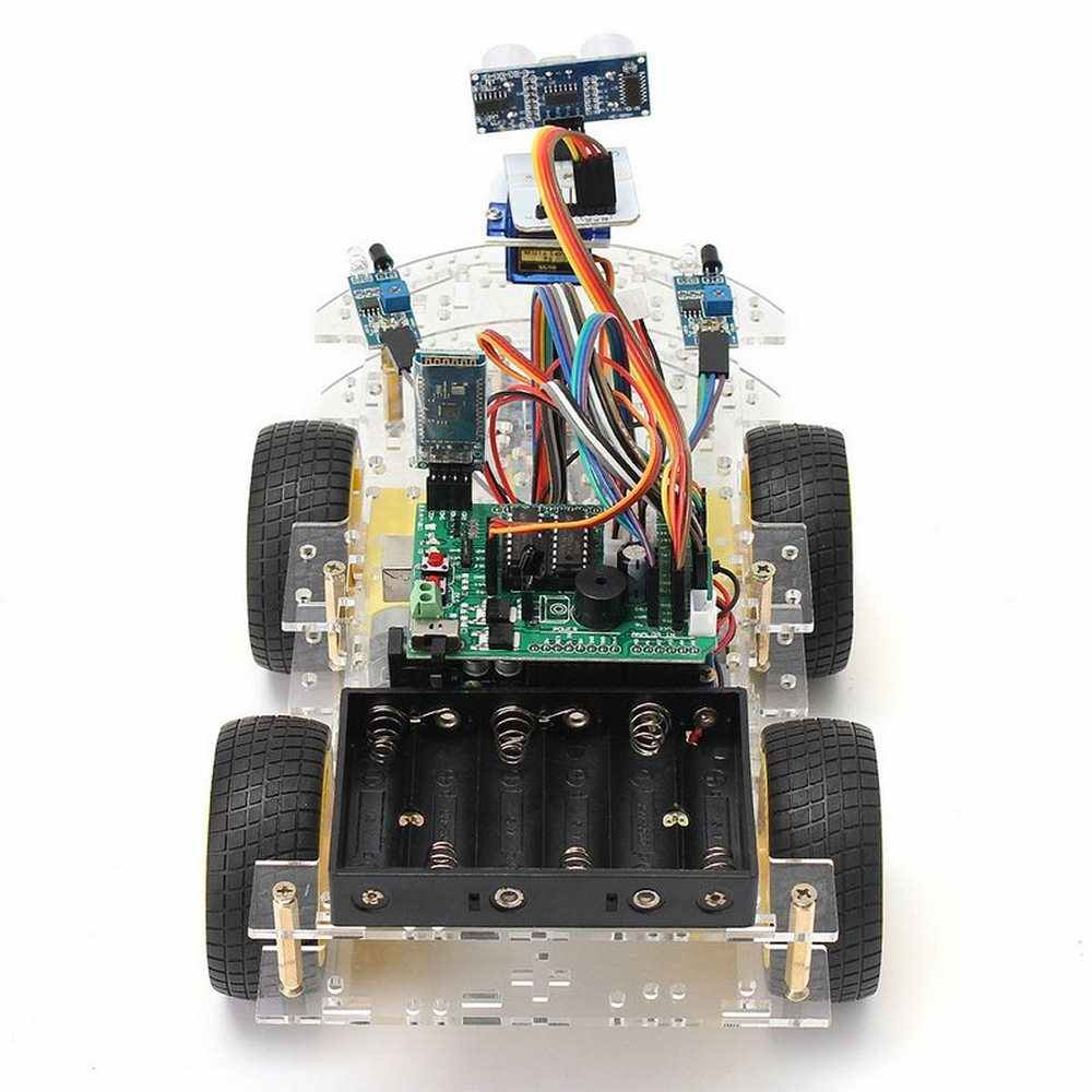 DIY Mini Smart Robot Car 4WD Learning Starter Kit for Arduino Robot  Education Programmable Robot +manual+PDF(online)+5 Projects