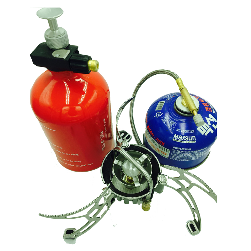цена на Gas-burner stove heaters for tents camping stove gas torch refilling gas cylinders petrol stove confi 1000ml bottle
