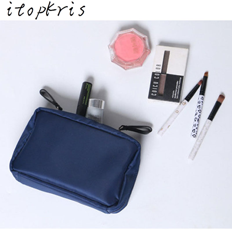 Itopkris Necessaire Women Small Cosmetic Bag High Quality Dressing Case Travel Organizer Toiletry Makeup Pouch Handing Wash Bag