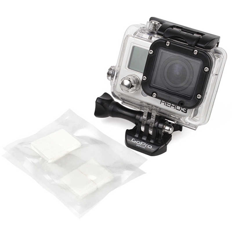 12 pçs anti nevoeiro inserções para gopro hero 7 5 6 preto 4 xiaomi yi 4 k sjcam eken h9 à prova dwaterproof água caso câmera para go pro acessório