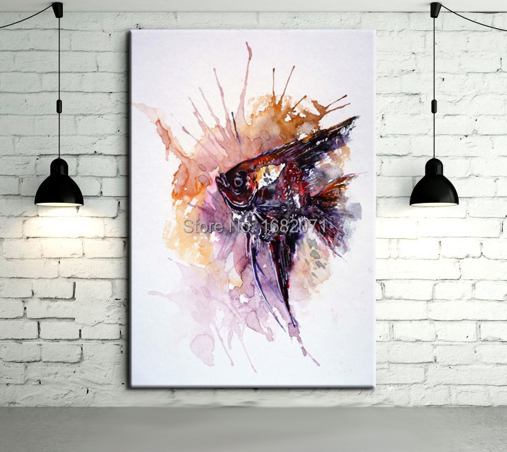 Online buy wholesale fish oil painting from china fish oil for Sell abstract art online