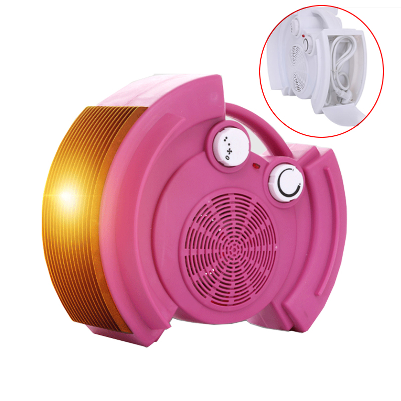 Portable Electric Heater 3 Gear Hide the Power Cord Heater Warm Air Handy Blower Room Fan Radiator Warmer For Office Home mini electric heaters red handy air heater warm air blower office home desktop warm fan heater for warm winter heating device