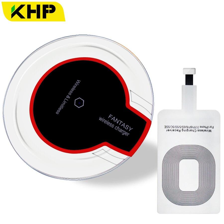 KHP Original Qi Carregador Sem Fio Para SAMSUNG Carregador Sem Fio Universal De Carregamento Dock Station Telefone Android iPhone Portátil