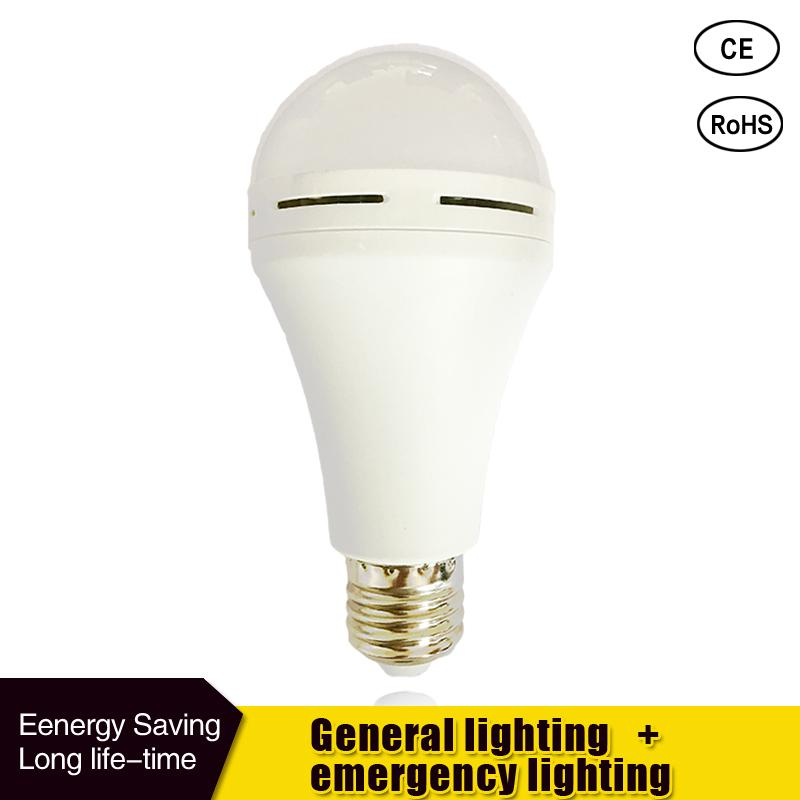 E27 LED Smart Bulb  9W 7W Led Emergency Light 85-265v Rechargeable Battery Lighting Lamp For Home Indoor Bombillas Cold White