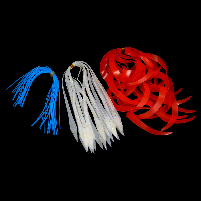 10 Pcs NEW Silicone Replacement Spinnerbait Buzzbait Skirts Fishing Lures Blue