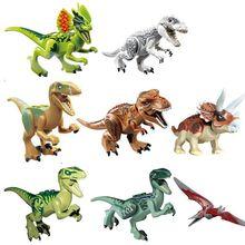 2018 Mundo Jurássico Dinossauro Caído Reino Indominus Tijolo Bloco de Construção de Brinquedos Dinossauro Tiranossauro Rex Rex Figura Toy Kids