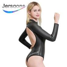 Jersqons Women 3mm High Quality Neoprene Snorkeling Wetsuit Swimming Suit Surfing Swimwear цена