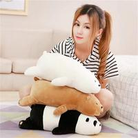 One Piece Small Cute Plush Bear Toy Soft Lying Panda Pillow Doll Gift About 50cm