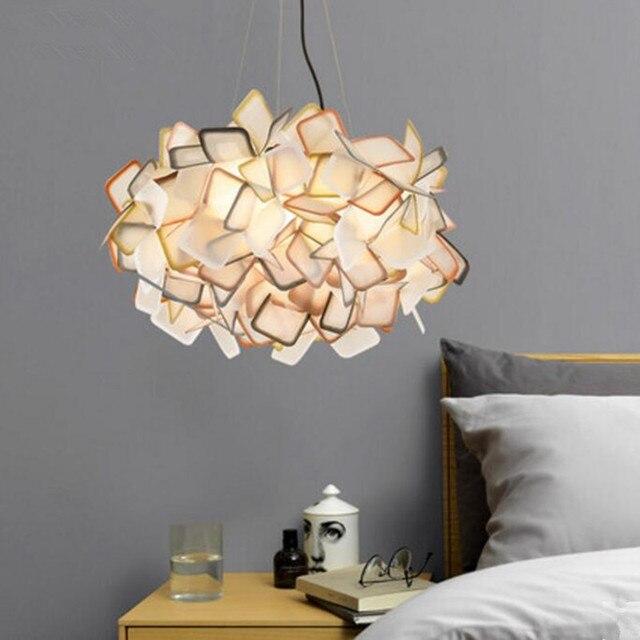 restaurant hanglamp pvc indoor verlichting verven kleur led lamp