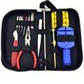 15 pcs um Set Assista Repair Tool Kits Set Zip Titular Caso Opener Remover Chave de Fenda Relojoeiro Assista Acessórios