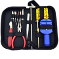 15pcs a Set Watch Repair Tool Kits Set Zip Case Holder Opener Remover Wrench Screwdrivers Watchmaker Watch Accessories