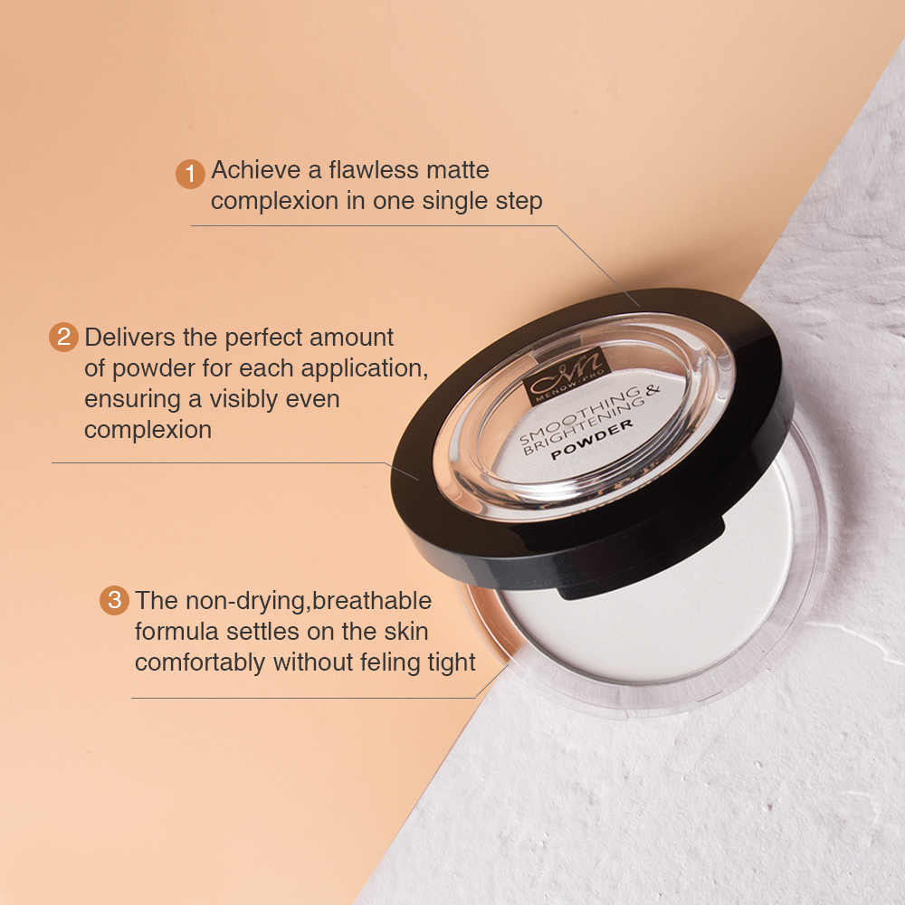 MENOW Novo Rosto Paleta de Maquiagem Profissional Pó Branco Rosto Highlighter Shimmer Ilumine Concealer Oil-controle de Cosméticos