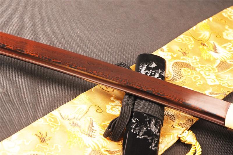 SHI JIAN Damaskus Stahl Japanisches Samurai Katana Schwert Sharp - Wohnkultur - Foto 4