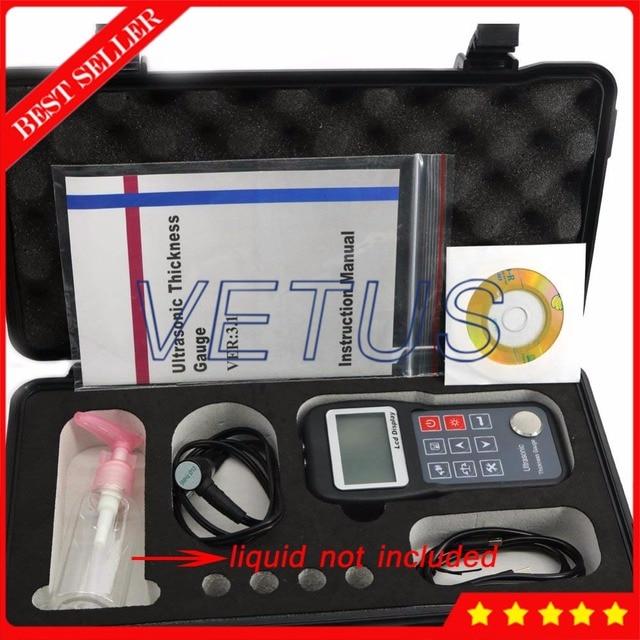KT320 Ad Ultrasuoni Tester del Calibro di Spessore con Metallo di Plastica di Vetro di Ceramica Larghezza di Misura Dispositivo di Apparecchiature di Prova di Spessore