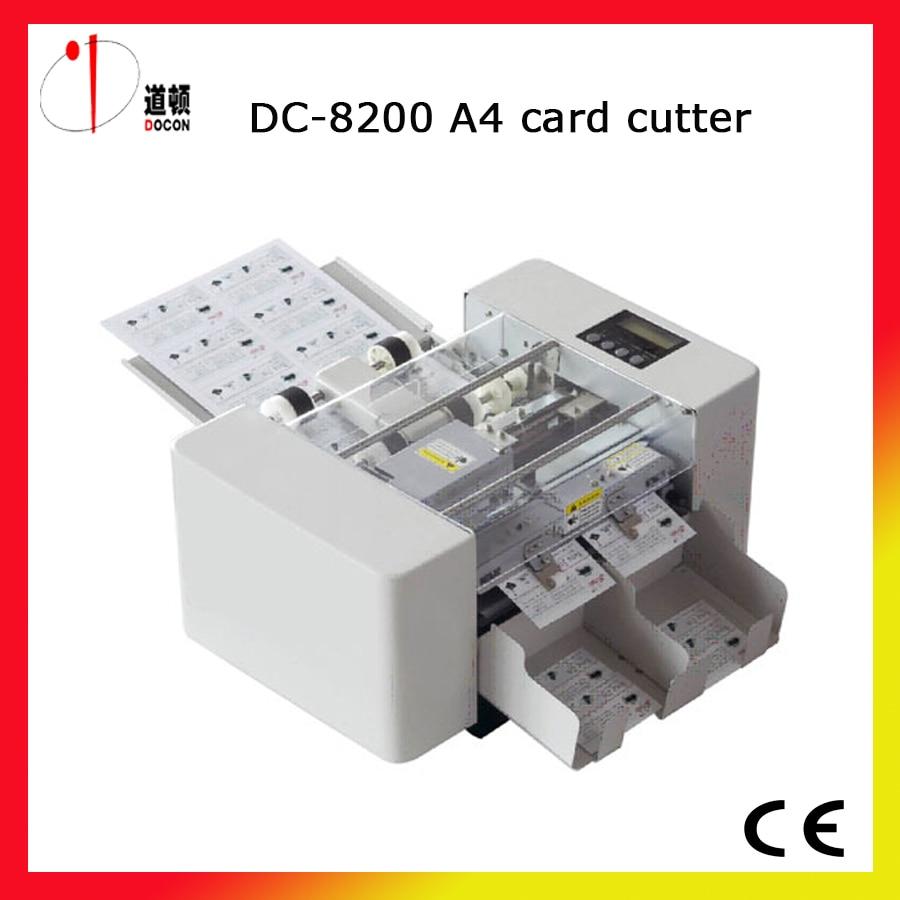 Dc 8200 A4 Automatique Coupe De La Carte Visite Machine Decoupe Cutter Dans Massicot Ordinateur Et Bureautique Sur