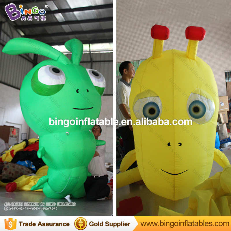 Confident Personalized 2 Meters Big Inflatable Insect / Big Inflatable Worm For Decoration Toys Choice Materials