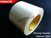 1x (10cm) 100mm*55M 3M Strong Tensile Adhesive Fiberglass Tape, for Heavy Box, Furniture, Home Appliance, Wood, Metal Pack, Ship