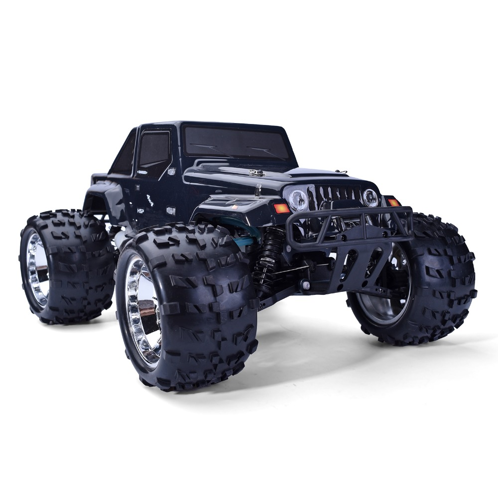 HSP Hi-Speed 1/8 scale 4wd Nitro powered off-road rc car Monster Truck Rock Crawler Climbing Remote Control cars gift 94762 02023 clutch bell double gears 19t 24t for rc hsp 1 10th 4wd on road off road car truck silver