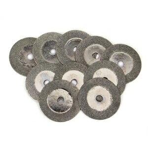 Image 5 - 10 Uds., 20mm, Mini disco de corte de diamante, disco de corte, hojas de sierra, afilador, discos abrasivos, herramientas rotativas para Dremel