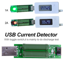 Adjustable USB Mini Discharge Interface Load Resistor with Switch 5V 1A Green battery capacity voltage Load tester constant current electronic load discharge 9 99a 60w 30v battery capacity tester free shipping with tracking number