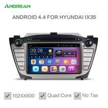 1024*600 de Cuádruple Núcleo Reproductor de DVD Del Coche Estéreo Android 4.4 Bluetooth gps de Navegación Para Hyundai IX35 Tucson Envío UE libre NO IMPUESTO
