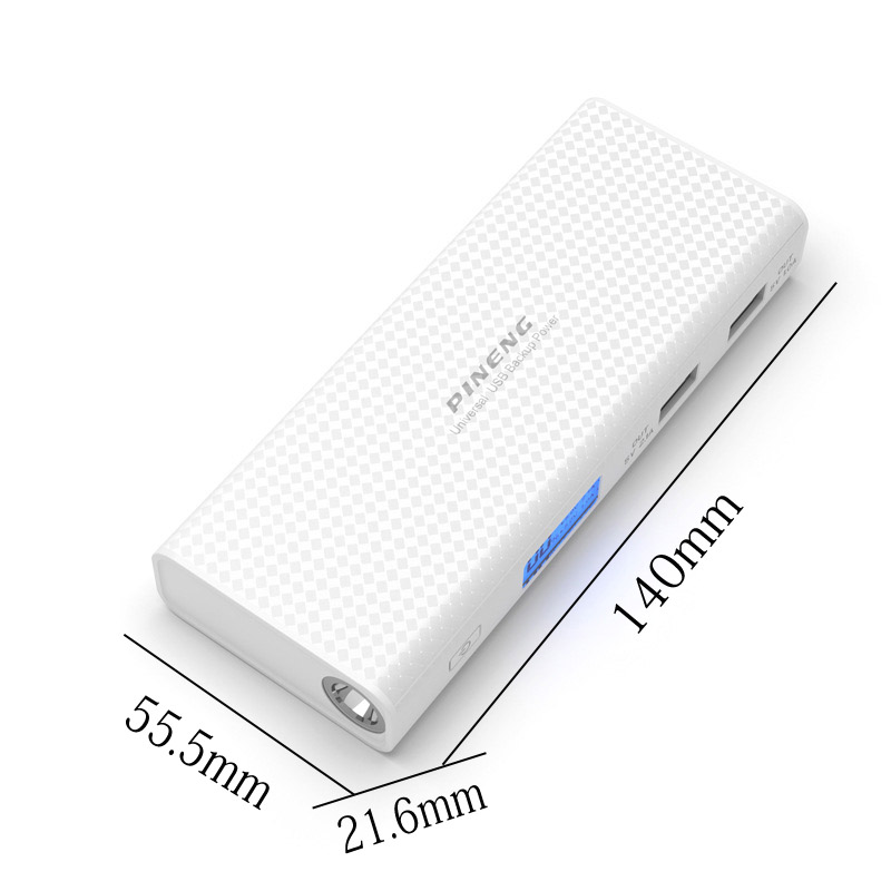 Pineng Power Bank 10000mah LCD External Battery Portable Mobile Fast Charger Dual USB Powerbank for iPhone 6 Samsung Tablet 11