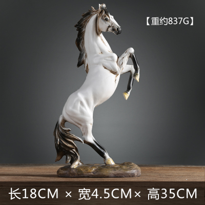 Animal Horse Creative arts and crafts ornaments retro cabinet office decor minimalist modern living room Home Furnishing