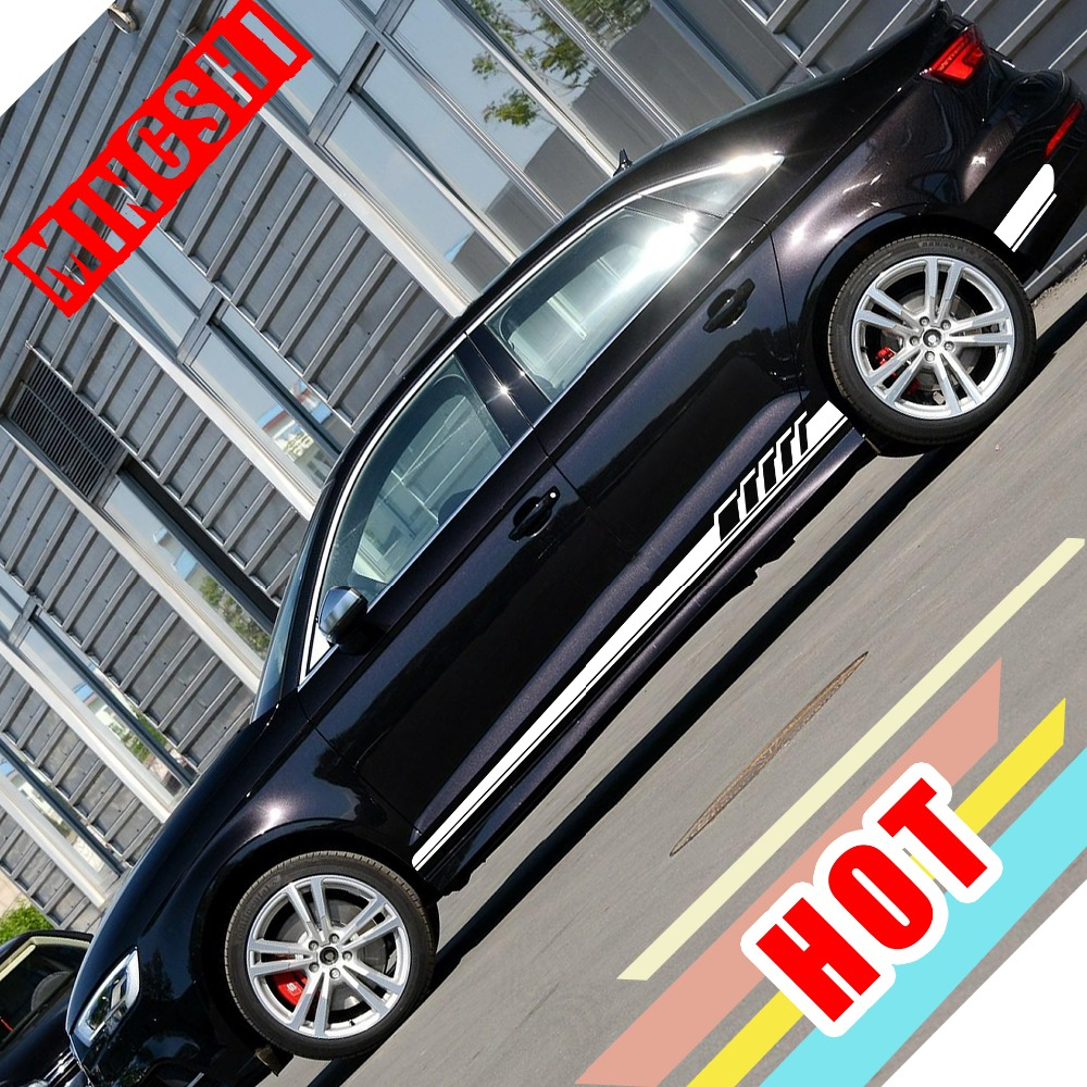 US $11212.11212 11212% OFF|New Arrival 112 Pair Car Side Skirt Waist Line Sticker Car  Accessories Decals For Audi A112 A112 A112 A112 A112 Q12 Q112 Q112 Mercedes Benz BMW-in ... | audi a3 car accessories