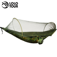 Durable Portable Camping Hammock Tent Quick Open No Need To Set UP Hamak Rede Camouflage Netting Hammock Black Army Green