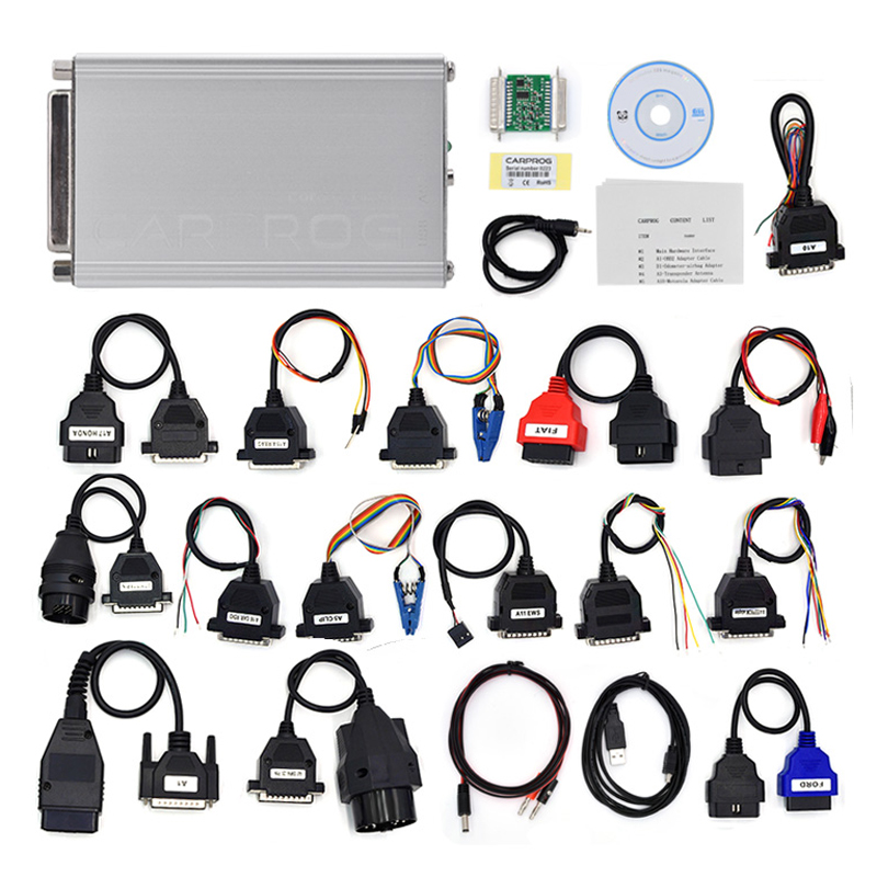 где купить CARPROG Full Set V10.93 Programmer Auto Repair Airbag Reset Tools Car Prog ECU Chip Tuning Full 21 Adapters по лучшей цене