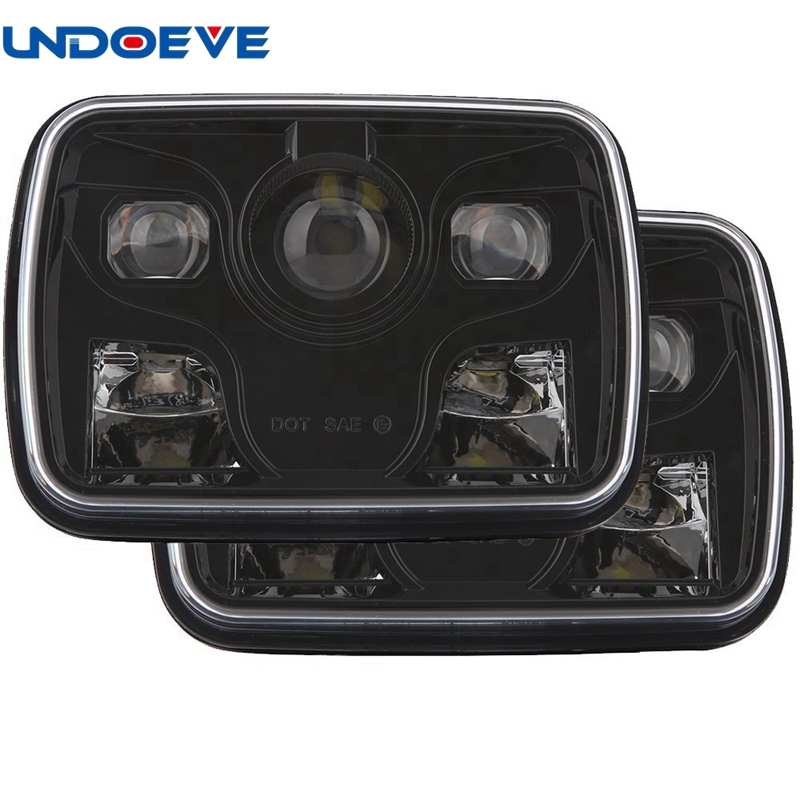 7x5 LED Square Headlights 7x6Inch Sealed Beam Head Lamps with Hi/Lo Beam Lighting for Jeep Cherokee pair 7x6inch led headlights 27450c of
