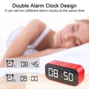Image 2 - LED ミラー時計子供アラーム時計 Led ナイトデスクデジタル時計ワイヤレス Bluetooth スピーカーサポート AUX TF USB 音楽プレーヤー