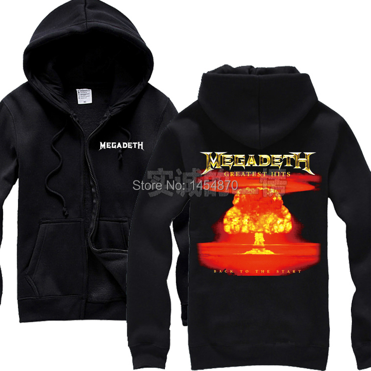 20 Designs Megadeth Rock Black Hoodies Shell Jacket Thrash Metal Sweatshirt 3D Skull Bone Sudadera Zipper Fleece Outerwear In Sweatshirts From
