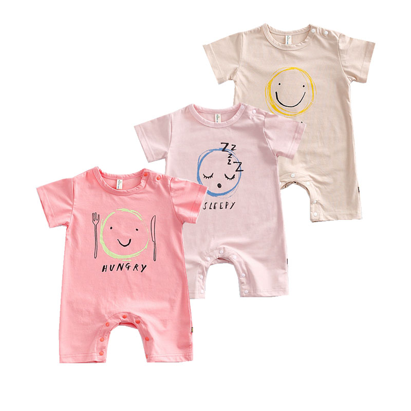 New 2017 summer Short Sleeve Baby Rompers Cotton Newborn infant Bebes Clothes Baby Girl Clothing Letter Cartoon Jumpsuit Costume summer cotton baby rompers infant toddler jumpsuit lace collar short sleeve baby girl clothing newborn overall clothes