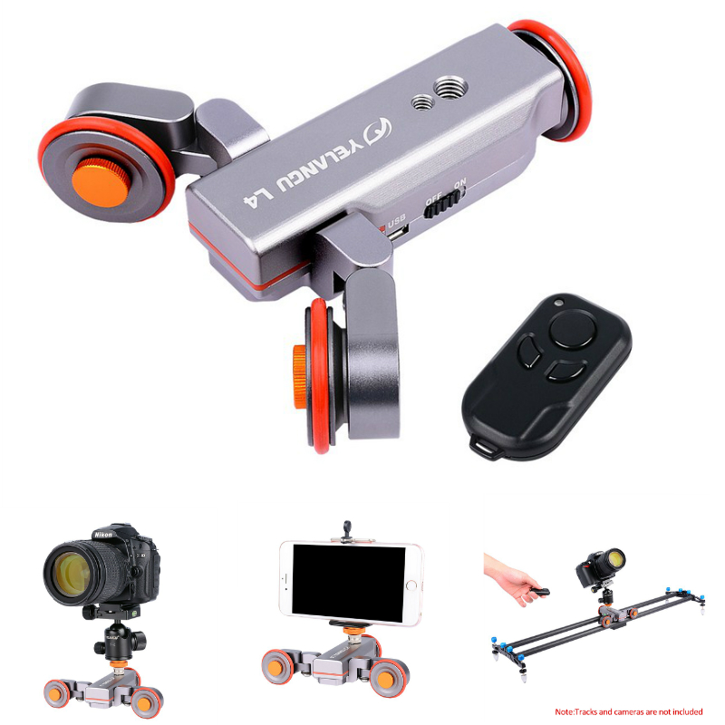 Wireless Remote Motorized Electric Track Slider Dolly Car for Nikon Canon DSLR Camera Mobile Phone Video Pulley Rolling Skater new 4 wheels mobile rolling sliding dolly stabilizer skater slider motorized push cart tractor for gopro 5 4 3 3 2 1 camera