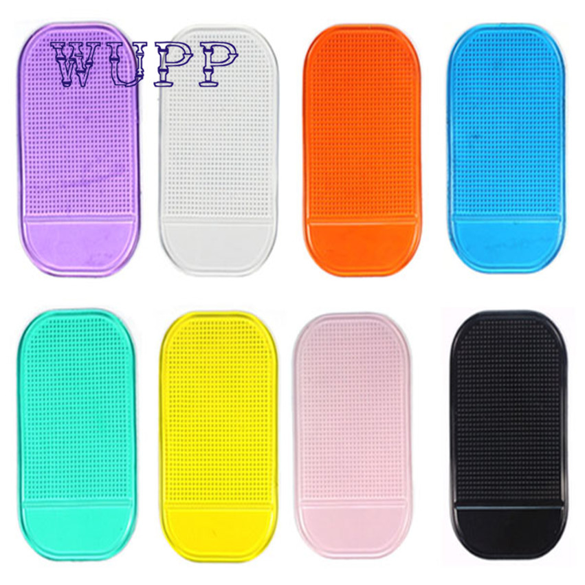 Car styling Dashboard Sticky Pad Silica Gel Magic Sticky Pad Holder Anti Slip Mat For Car Mobile Phone Accessories 6 color b