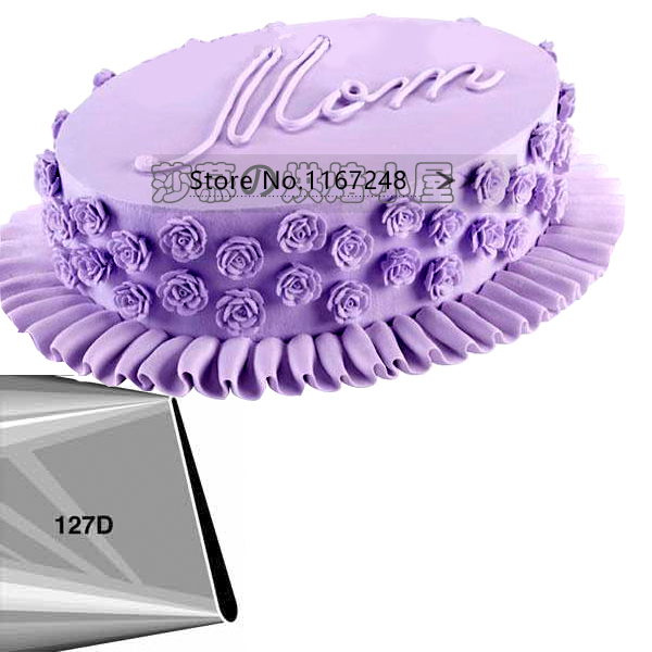 127d 180 Large Size Petal Decorating Tips Icing Nozzle Cake Decorating Tips Stainless Steel Seamless Icing Tube Bakeware In Baking Pastry Tools From Home