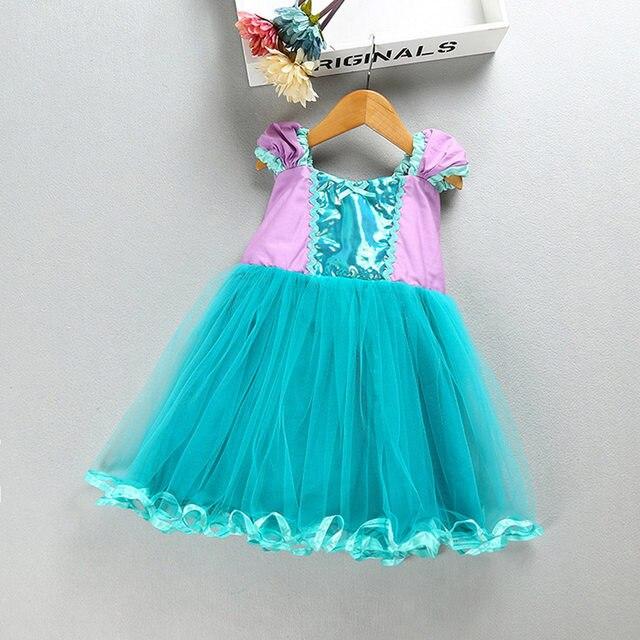 2018 Summer New Kids Girls Baby Little Mermaid dresses Costume Fancy Dress Ariel Cosplay Halloween Costume Party A-line dress & Online Shop 2018 Summer New Kids Girls Baby Little Mermaid dresses ...