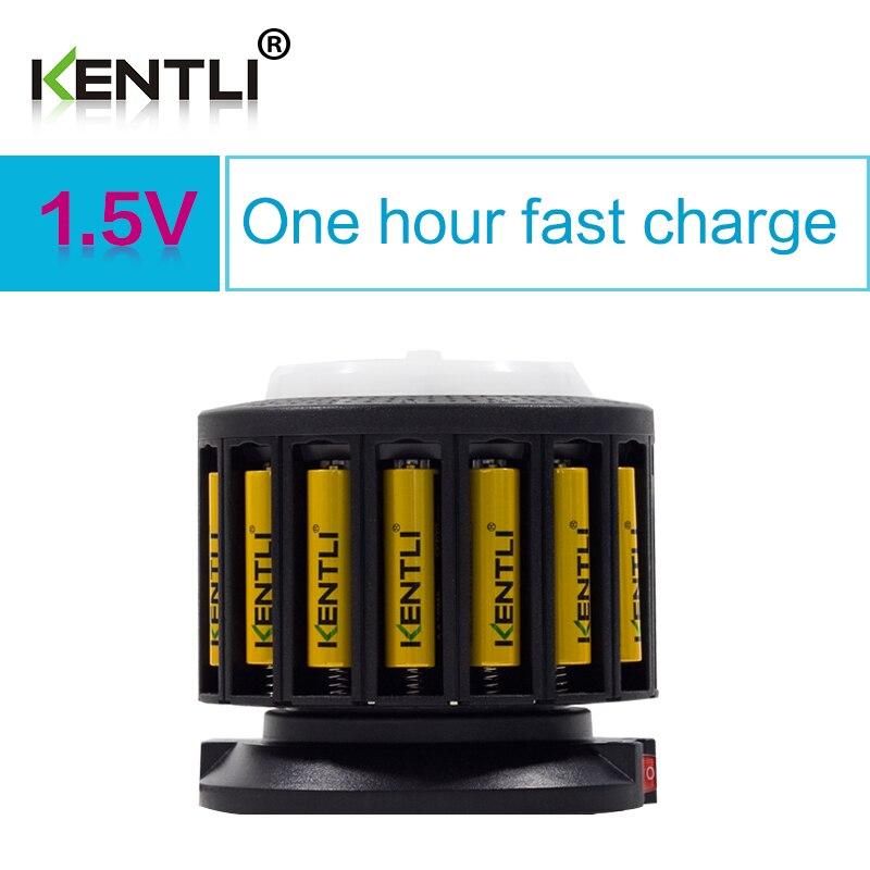 KENTLI 16-slot polymer li-ion lithium batteries charger + 16 pcs polymer PLIB li-ion batteries AA / AAA batteries 1pcs free shipping 3500mah lithium polymer universal 7 inch tablet pc batteries batteries 308593