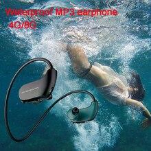 Mode Outdoor IPX8 Waterdichte Zwemmen MP3 Speler Sport Hoofdtelefoon Hifi Muziek 4G/8G Geheugen Duiken Running Stofdicht oortelefoon