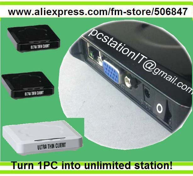 Mini PC thin client terminal with 16 bit graphic and 1280*1024